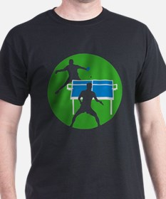 male table tennis players T-Shirt