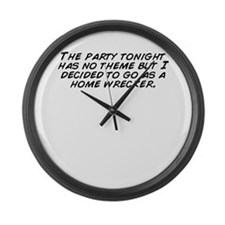 Unique Themed party Large Wall Clock