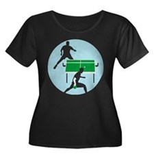 table tennis player Plus Size T-Shirt