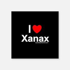 "Xanax Square Sticker 3"" x 3"""