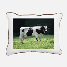Holstein Meadow Small Rectangular Canvas Pillow
