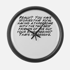 Unique Threesomes Large Wall Clock