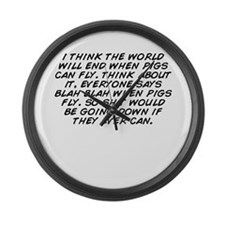 Cute The world will end Large Wall Clock