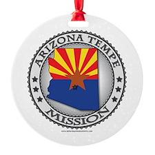 Arizona Tempe LDS Mission State Flag Cutout Orname