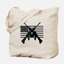 AR-15 and Revolutionary Flag Tote Bag