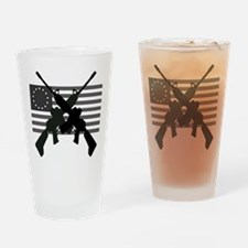 AR-15 and Revolutionary Flag Drinking Glass