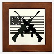 AR-15 and Revolutionary Flag Framed Tile
