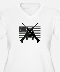 AR-15 and Revolutionary Flag Plus Size T-Shirt