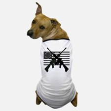 AR-15 and Revolutionary Flag Dog T-Shirt