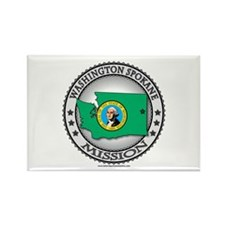 Washington Spokane LDS Mission State Flag Rectangl
