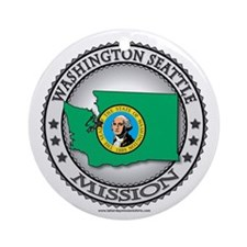 Washington Seattle LDS Mission State Flag Ornament