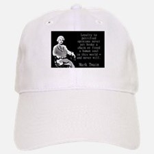 Loyalty To Petrified Opinions - Twain Baseball Baseball Baseball Cap