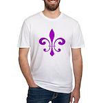 Fleur De Lis Purple Fitted T-Shirt
