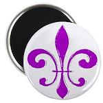 Fleur De Lis Purple Magnet