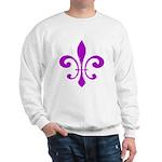 Fleur De Lis Purple Sweatshirt