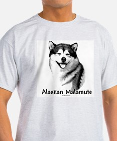 Malamute Charcoal Ash Grey T-Shirt