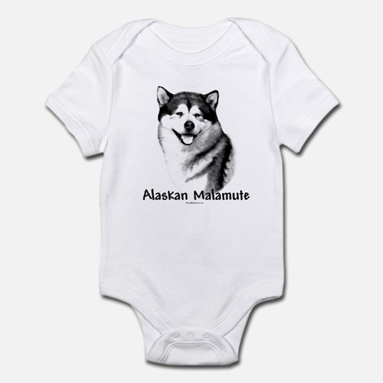 Malamute Charcoal Infant Bodysuit