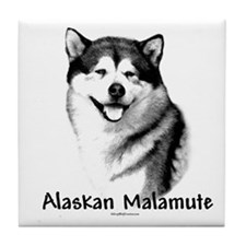 Malamute Charcoal Tile Coaster