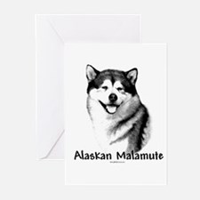 Malamute Charcoal Greeting Cards (Pk of 10)