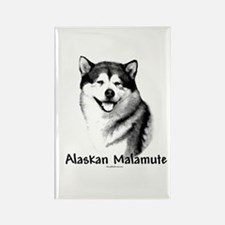 Malamute Charcoal Rectangle Magnet