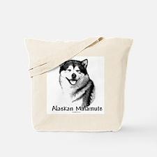 Malamute Charcoal Tote Bag