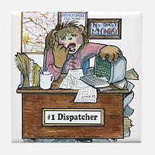Cute Dispatcher school Tile Coaster