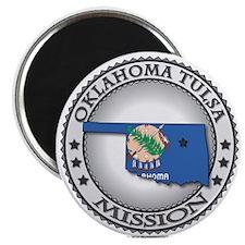 Oklahoma Tulsa LDS Mission State Flag Cutout Gift