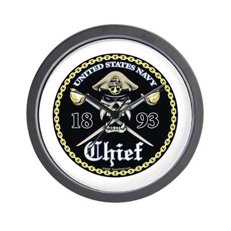 Navy Chief 1893 Wall Clock