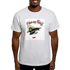 """I Love My Chief"" Image Ash Grey T-Shirt"