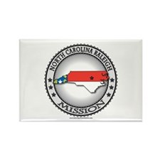 North Carolina Raleigh LDS Mission State Flag Rect