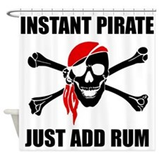 Instant Pirate Shower Curtain