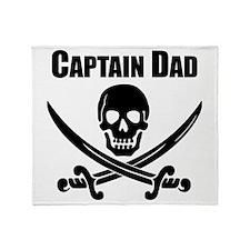 Captain Dad Throw Blanket
