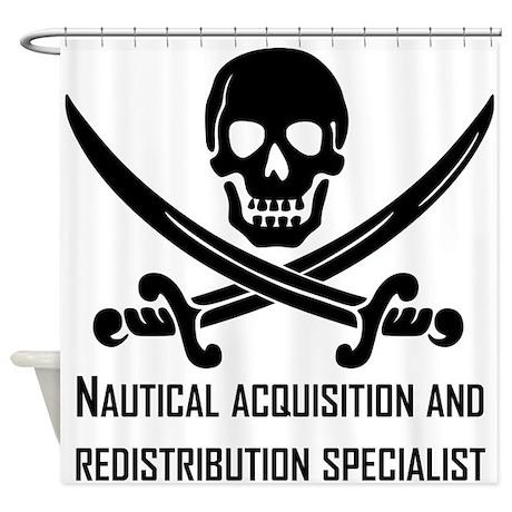 Nautical Acquisition Specialist Shower Curtain