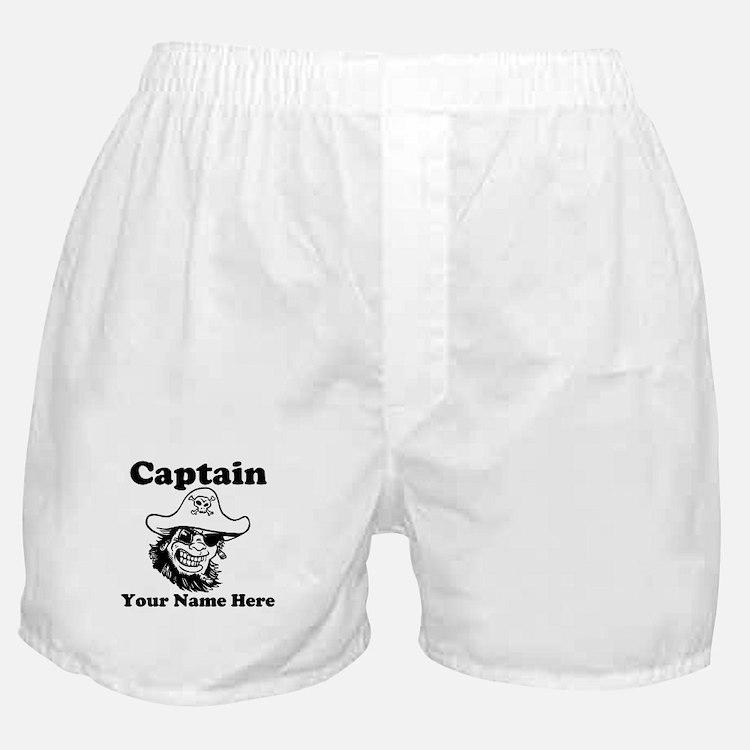 Custom Captain Pirate Boxer Shorts