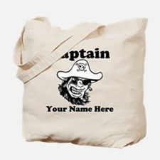 Custom Captain Pirate Tote Bag
