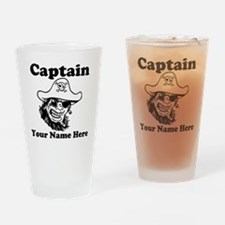 Custom Captain Pirate Drinking Glass