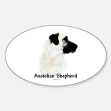 Anatolian Charcoal Oval Decal
