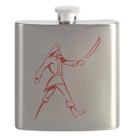 Red Muskateer Pirate Flask
