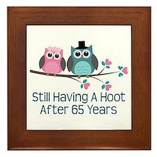 65th Anniversary Owls Framed Tile