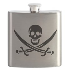 Calico Jack Symbol Flask