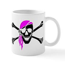 Skull And Bones Pink Bandana Mug