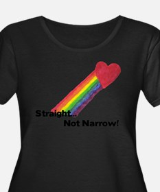 """Straight Not Narrow"" Plus Size T-Shirt"