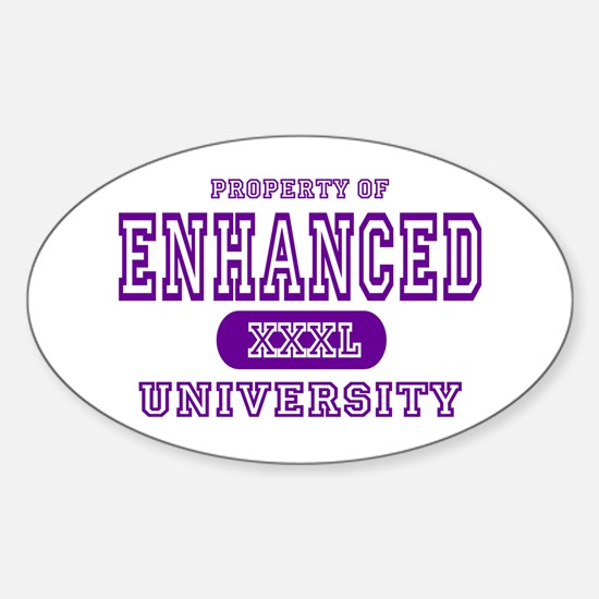 Enhanced University Oval Decal