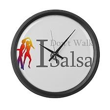 I Dont Walk I Salsa Large Wall Clock
