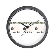 The Sheepies Are Asleepies Wall Clock