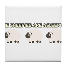 The Sheepies Are Asleepies Tile Coaster