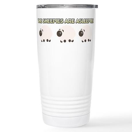 The Sheepies Are Asleepies Travel Mug