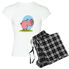 funny fat piggy pig looking scared cartoon pajamas