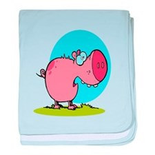 funny fat piggy pig looking scared cartoon baby bl