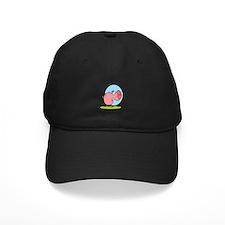 funny fat piggy pig looking scared cartoon Baseball Hat